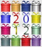 Rectángulos con el calendario Foto de archivo libre de regalías
