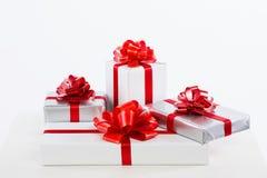 Rectángulos con los regalos Imagen de archivo libre de regalías