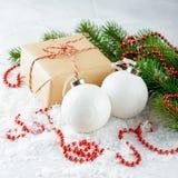 Rectángulos con los regalos de la Navidad Imagen de archivo libre de regalías