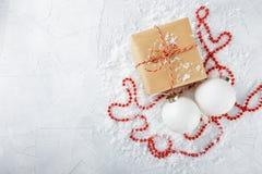 Rectángulos con los regalos de la Navidad Fotos de archivo