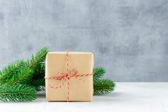 Rectángulos con los regalos de la Navidad Imágenes de archivo libres de regalías