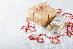 Rectángulos con los regalos de la Navidad Imagenes de archivo