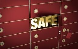 Rectángulos de depósito seguro 2 Imágenes de archivo libres de regalías