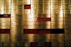 Rectángulos de depósito seguro Fotos de archivo libres de regalías