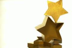 Rectángulos de la estrella del oro Imágenes de archivo libres de regalías