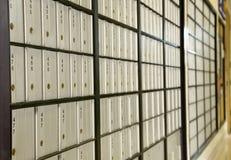 Rectángulos de la oficina de correos Fotografía de archivo libre de regalías