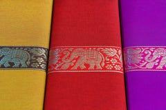 Rectángulos de la seda del detalle Foto de archivo libre de regalías