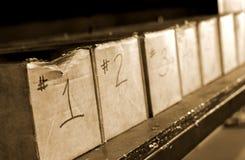 Rectángulos de las piezas en fábrica Imagen de archivo
