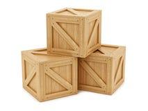 Rectángulos de madera Fotos de archivo libres de regalías