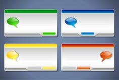 Rectángulos de mensaje para sus aplicaciones Libre Illustration
