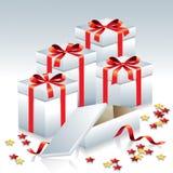 Rectángulos de regalo Foto de archivo