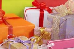 Rectángulos de regalo Fotos de archivo libres de regalías