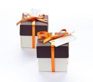 Rectángulos de regalo. Fotos de archivo