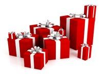 rectángulos de regalo 3d aislados en un fondo blanco Fotografía de archivo libre de regalías