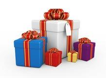Rectángulos de regalo - 3d rinden Fotografía de archivo libre de regalías