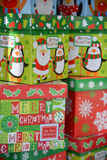 Rectángulos de regalo adornados de la Navidad Foto de archivo