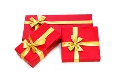 Rectángulos de regalo aislados Fotografía de archivo libre de regalías
