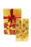 Rectángulos de regalo aislados en el fondo blanco Imagenes de archivo