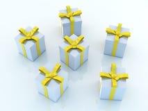 Rectángulos de regalo - ambiente azul ilustración del vector