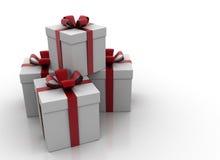 Rectángulos de regalo blancos Ilustración del Vector