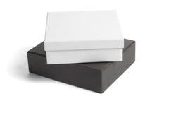 Rectángulos de regalo blancos y negros Fotografía de archivo