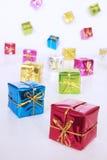 Rectángulos de regalo coloreados Foto de archivo libre de regalías