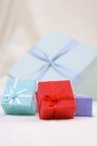 Rectángulos de regalo coloridos Imagen de archivo libre de regalías