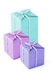 Rectángulos de regalo coloridos Foto de archivo libre de regalías