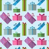Rectángulos de regalo coloridos del vector Fotos de archivo libres de regalías