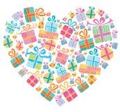 Rectángulos de regalo coloridos del vector. Foto de archivo libre de regalías