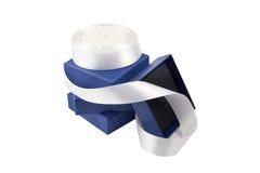 Rectángulos de regalo con la cinta Imágenes de archivo libres de regalías