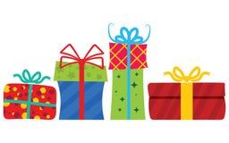 Rectángulos de regalo con la cinta stock de ilustración