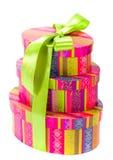 Rectángulos de regalo de Colorfull Fotos de archivo libres de regalías