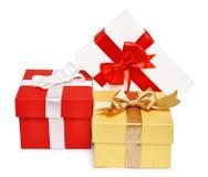 Rectángulos de regalo de día de fiesta Fotos de archivo libres de regalías