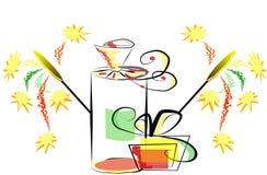 Rectángulos de regalo de la celebración Imagen de archivo