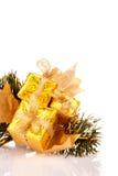 Rectángulos de regalo de la Navidad Imagen de archivo libre de regalías