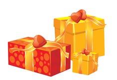 Rectángulos de regalo de la Navidad Foto de archivo libre de regalías