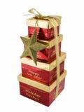 Rectángulos de regalo de la Navidad Foto de archivo
