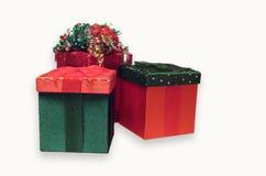 Rectángulos de regalo de la Navidad Fotografía de archivo libre de regalías