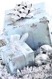Rectángulos de regalo de la Navidad Imagenes de archivo