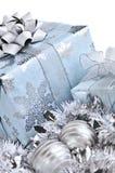 Rectángulos de regalo de la Navidad Imágenes de archivo libres de regalías