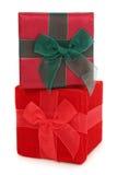 Rectángulos de regalo de la tela empilados Imagen de archivo