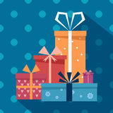 Rectángulos de regalo del vector fotos de archivo