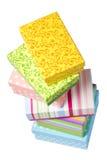 Rectángulos de regalo empilados aislados en blanco Imagen de archivo
