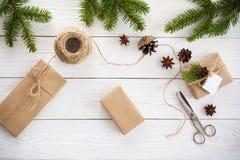 Rectángulos de regalo en blanco Imagen de archivo