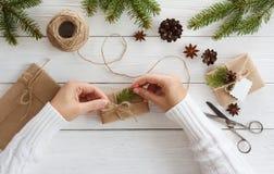 Rectángulos de regalo en blanco Imágenes de archivo libres de regalías
