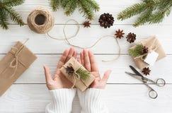 Rectángulos de regalo en blanco Fotos de archivo libres de regalías