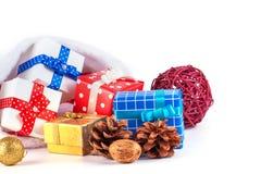 Rectángulos de regalo en blanco Foto de archivo libre de regalías