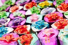 Rectángulos de regalo en concepto de la celebración Fotos de archivo libres de regalías