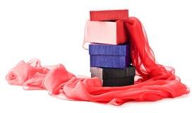 Rectángulos de regalo en un fondo blanco Imagen de archivo libre de regalías